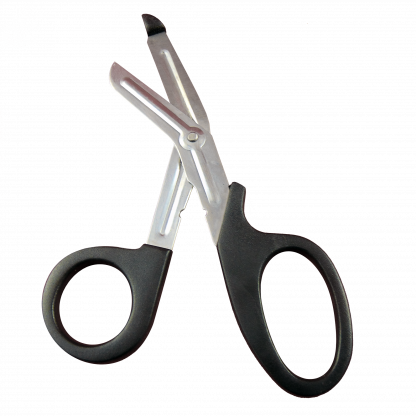 Self Sharpening Shears open with handle.