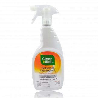Clean Well Botanical Disinfectant Bathroom Cleaner.