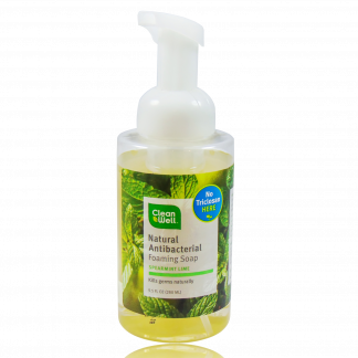 Clean Well Natural Antibacterial Foaming Soap.