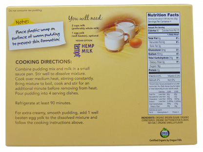 Butterscotch Organic Cooked Pudding & Pie Filling Mix