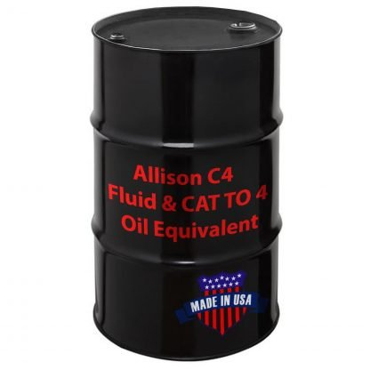 Allison C4 Fluid and CAT TO 4 Oil Equivalent, Made in USA.