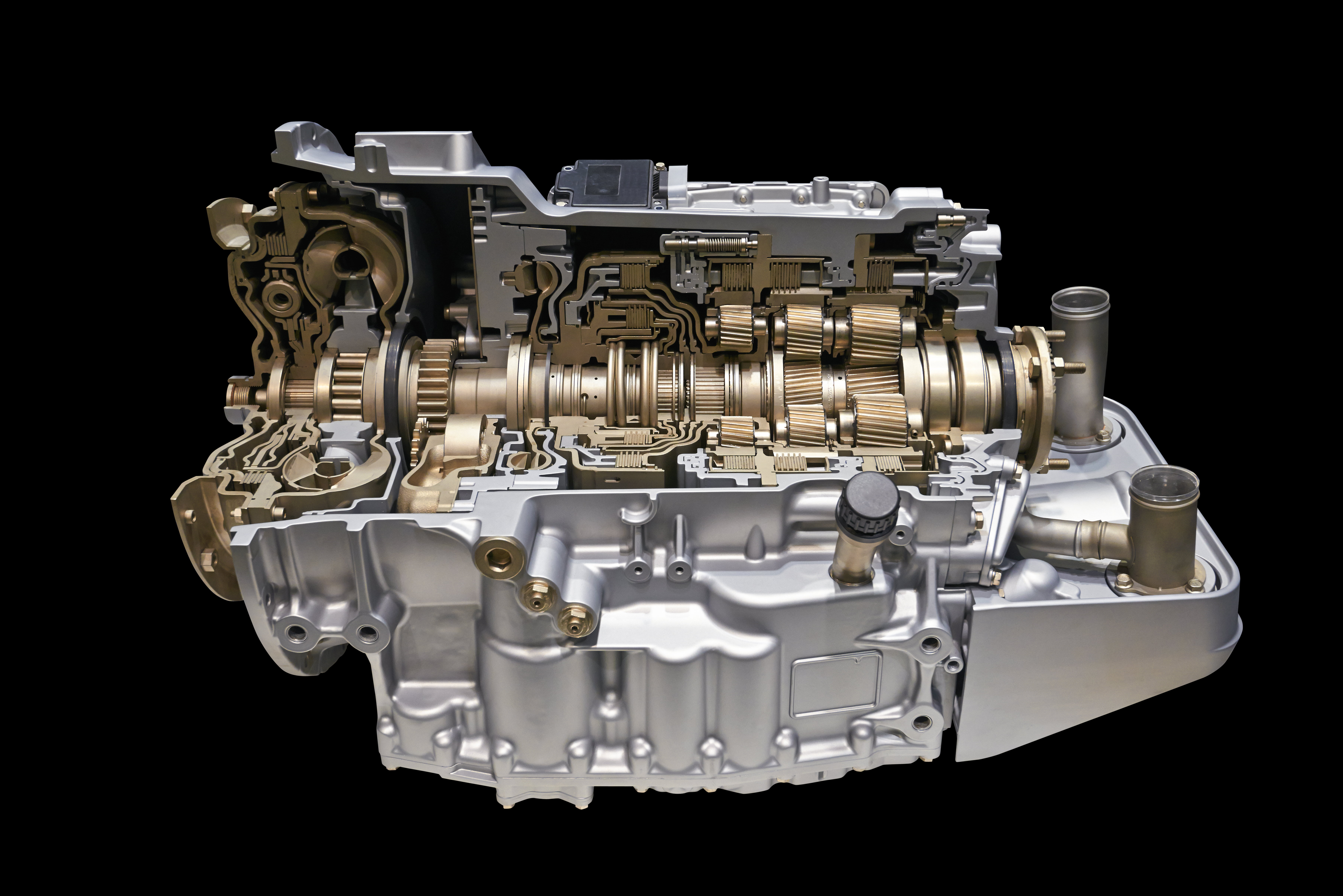 """Modern automatic transmission system. Featured image for """"Does Changing Transmission Fluid Help Shifting?"""" blog post."""